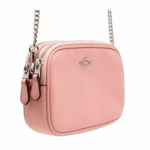 Coach Petal Pink Pebble Leather Crossbody
